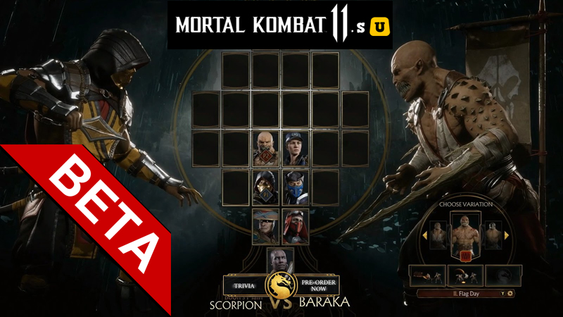 mortal kombat 11 beta version
